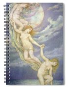 Moonbeams Dipping Into The Sea Spiral Notebook
