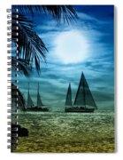 Moonlight Sail - Key West Spiral Notebook