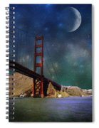 Moonrise Over The Golden Gate Spiral Notebook