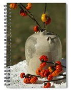 Moonshine Jug And Pumpkin On A Stick Spiral Notebook