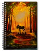 Moose Sunset Spiral Notebook