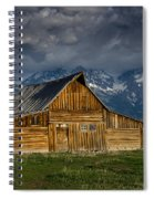Mormon Barn Under Approaching Storm Spiral Notebook