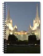 Mormon Cathederal San Diego 2 Spiral Notebook