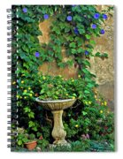 Morning Glory Garden In Provence Spiral Notebook