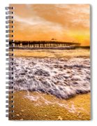 Morning Gold Rush Spiral Notebook
