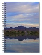 Morning Light On The River Spiral Notebook