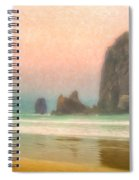 Morning Mist At Haystack Rock Spiral Notebook