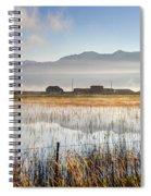 Morning Mists Of Cutler Marsh - Utah Spiral Notebook