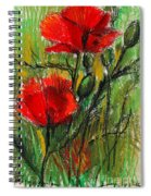 Morning Poppies Spiral Notebook