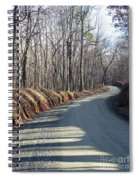 Morning Shadows On The Forest Road Spiral Notebook