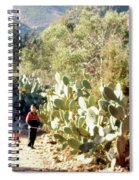 Moroccan People And Cacti Spiral Notebook