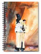 Moroccan Woman Carrying Baby Spiral Notebook