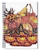 Mosaic Fruits Spiral Notebook