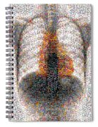 Mosaic Of Chest X-ray Spiral Notebook