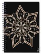 Mosaic Work Of Sepia Art  Spiral Notebook