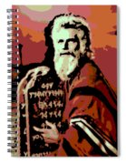 Moses And The 10 Commandments Spiral Notebook