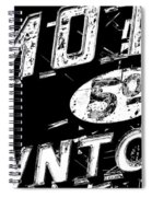 Motel Sign Black And White Spiral Notebook