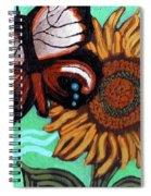 Moth And Sunflower Spiral Notebook