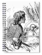 Mother And Child, 1873 Spiral Notebook