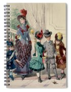 Mother And Children In Indoor Costume Spiral Notebook