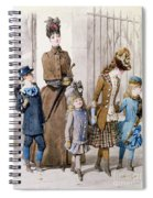 Mother And Children In Walking Dress  Spiral Notebook