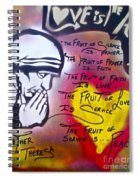 Mother Theresa Fruits Spiral Notebook