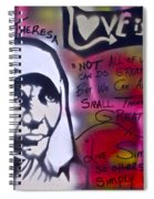 Mother Theresa Living Simply Spiral Notebook
