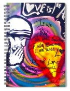 Mother Theresa Praying Spiral Notebook