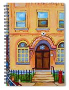 Mother With Baby Carriage Spiral Notebook