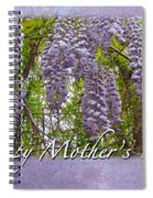Mother's Day Card - Purple Wisteria Spiral Notebook