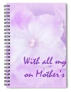 Mother's Day Greeting Card - African Violets Spiral Notebook