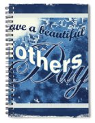 Mothers Day In Blue Spiral Notebook