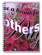 Mothers Day Pink Petunias Spiral Notebook