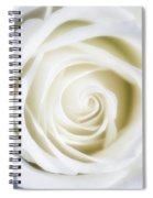Mother's White Rose Spiral Notebook