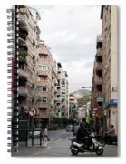 Motorbikes Passing Spiral Notebook