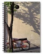 Motorcycle And Tree. Belgrade. Serbia Spiral Notebook