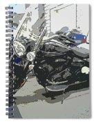 Motorcycle Ride - Three Spiral Notebook