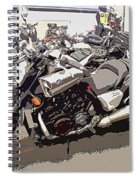 Motorcycle Rides - Five Spiral Notebook
