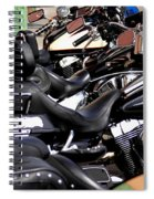 Motorcycles - Harleys And Hondas Spiral Notebook