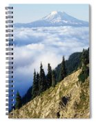Mount Adams Above Cloud-filled Valley Spiral Notebook