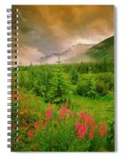Mount Amery And Fireweed Spiral Notebook