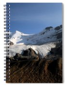 Mount Athabasca From The Columbia Icefields Spiral Notebook