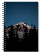 Mount Baker Starry Night Spiral Notebook