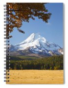 Mount Hood And Autumn Colours In Hood Spiral Notebook