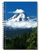 Mount Hood Framed By Trees, Oregon, Usa Spiral Notebook
