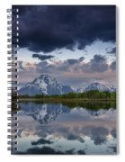 Mount Moran Under Black Cloud Spiral Notebook
