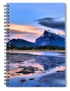 Mount Rundle In The Evening Spiral Notebook