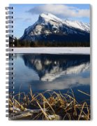 Mount Rundle In Winter Spiral Notebook