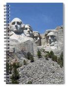 Mount Rushmore Vertical Spiral Notebook