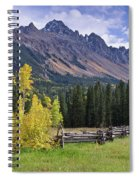 Mount Sneffels And Fence Spiral Notebook